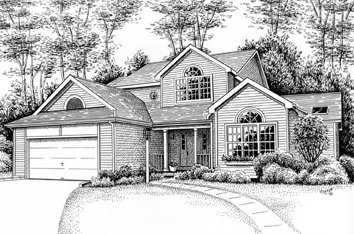 Most beautiful drawing in the world how to draw a beautiful house Draw your house