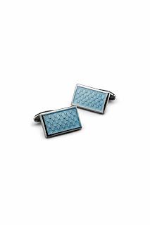 Men Accesories -  Blue Cufflinks