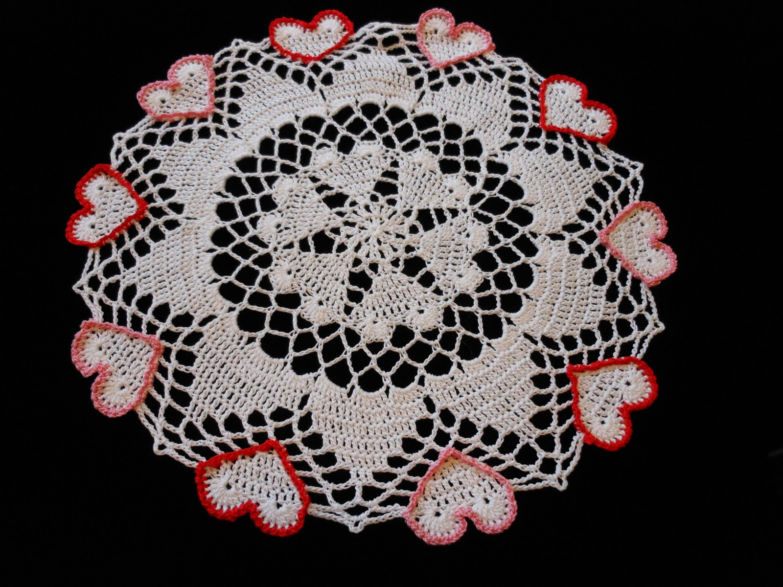 Free Crochet Pattern For Heart Doily : heart shaped doily crochet pattern free Car Tuning