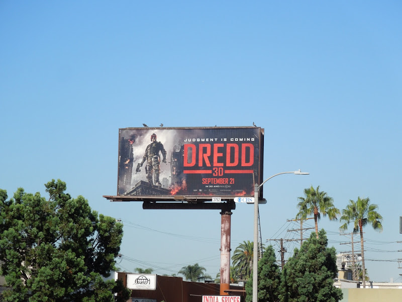 Dredd 3D movie billboard