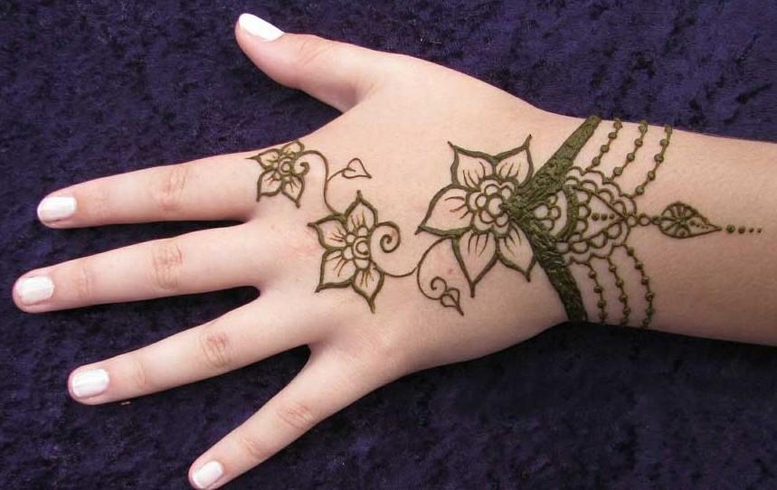 Mehndi Bracelet Design For Kids : Easy mehndi design for kids hands