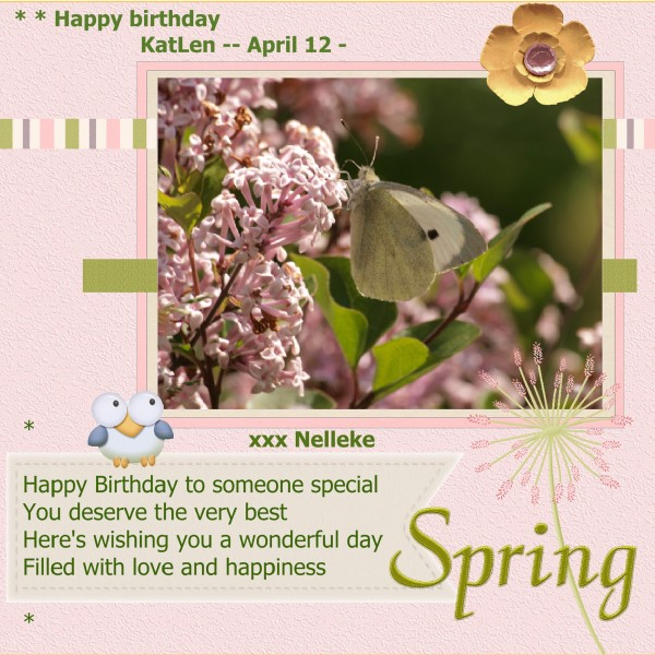 Happy birthday to you KatLen