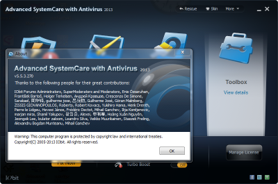 Advanced SystemCare with Antivirus 2013 Full Serial 2