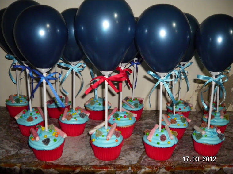 Maffins con globos