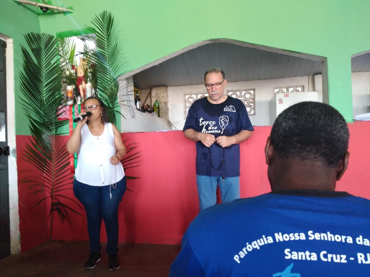 TERÇO NA COMUNIDADE SÃO SEBASTIÃO - CAMPO DO CENTRAL - SANTA CRUZ - EM 20/01/2019