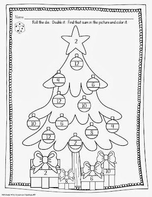 Christmas Math Worksheets First Grade Wanted a quick worksheet