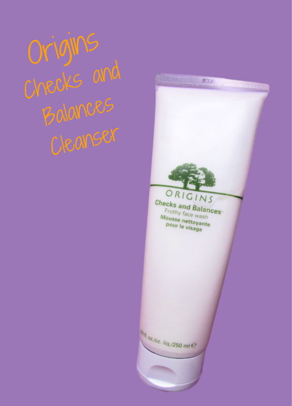 Origins Checks and Balances Facial Cleanser removes makeup and is good to your skin oily or dry