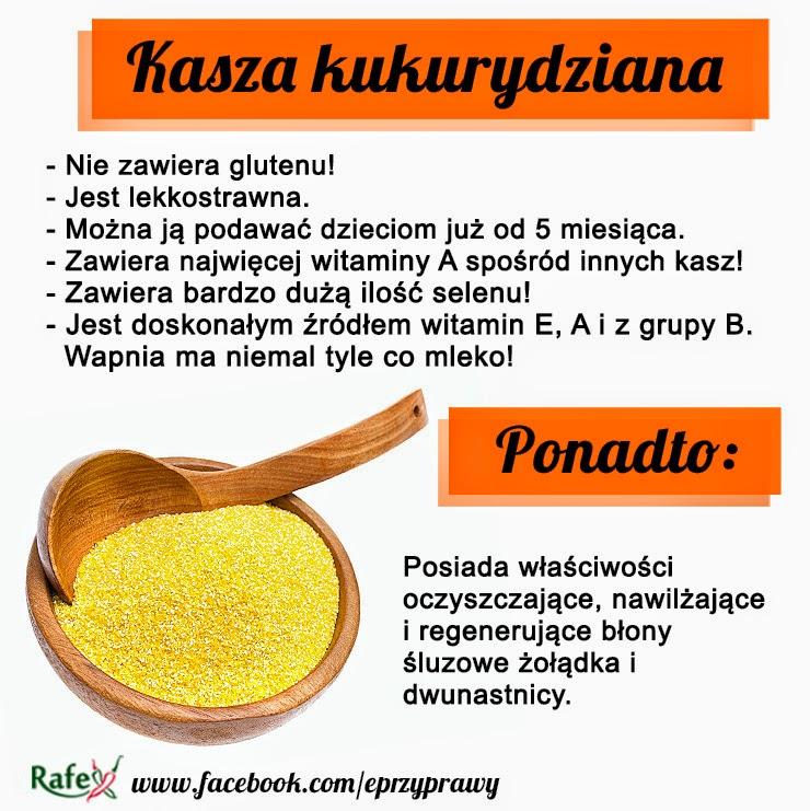 kasza kukurydziana właściwości