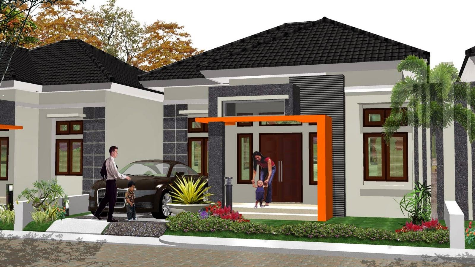 Desain Rumah Minimalis 1 Lantai Type 100 Foto Desain Rumah