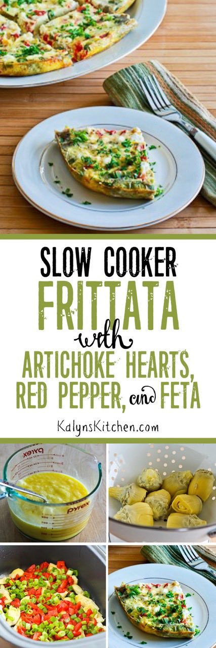 Slow Cooker Frittata With Artichoke Hearts Roasted Red