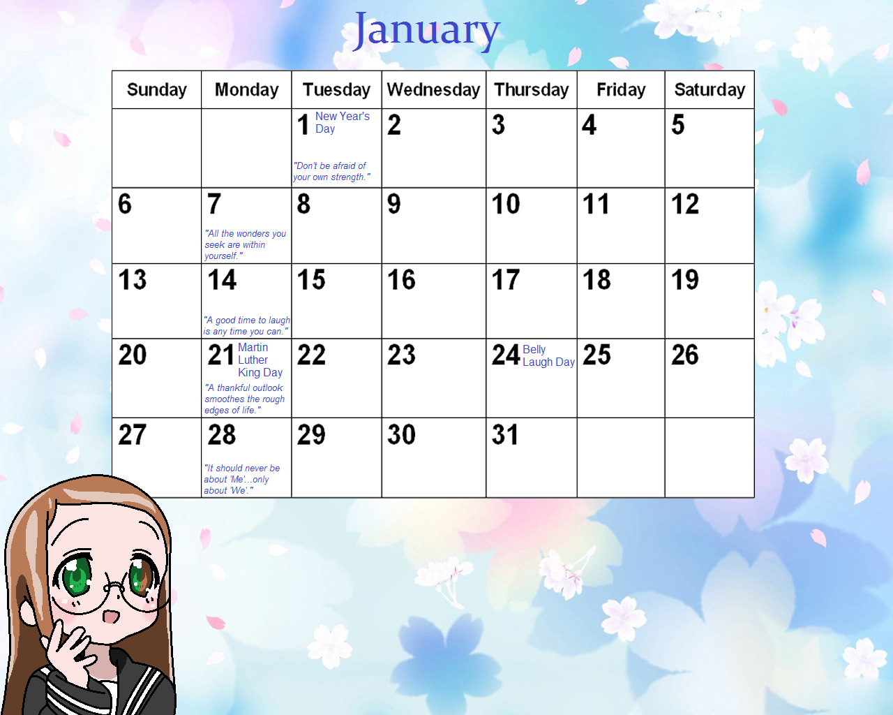 Calendar Quotes For January : January calendar with christian quotes search