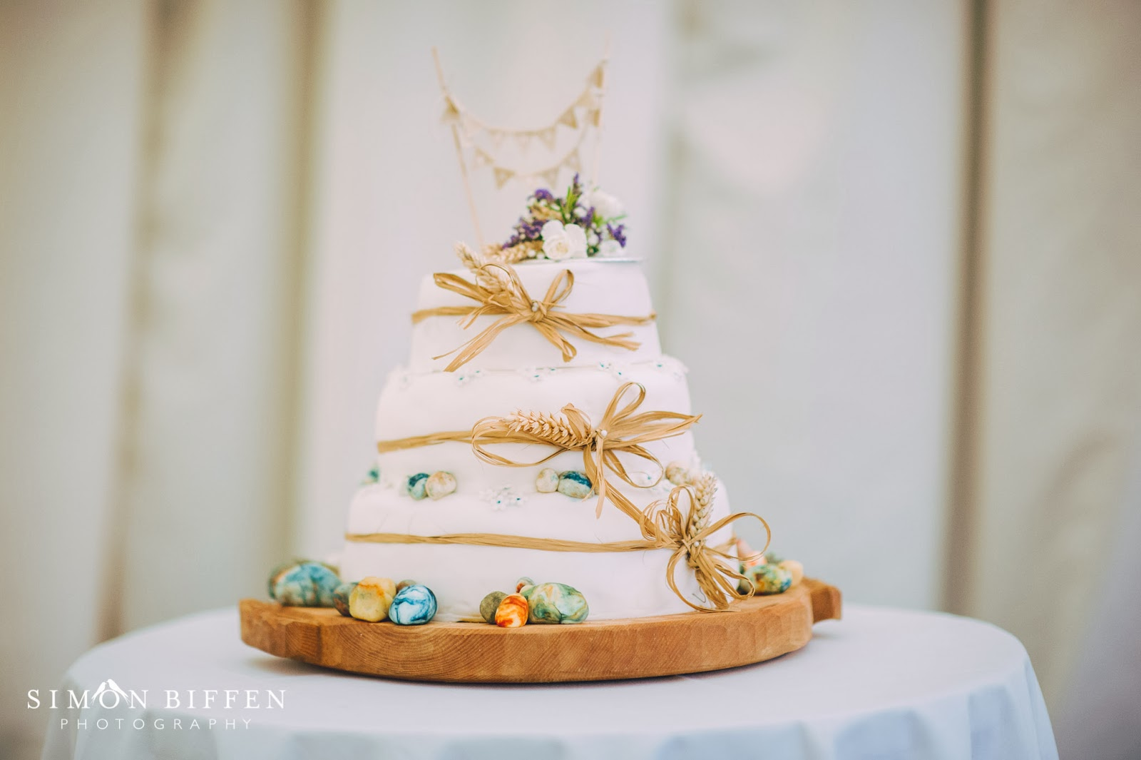 Wedding cake with eggs at Quantock Lakes wedding