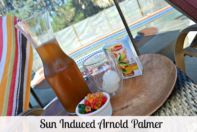 Arnold Palmer mocktail with Lipton Tea & Honey packets #FamilyTeaTime