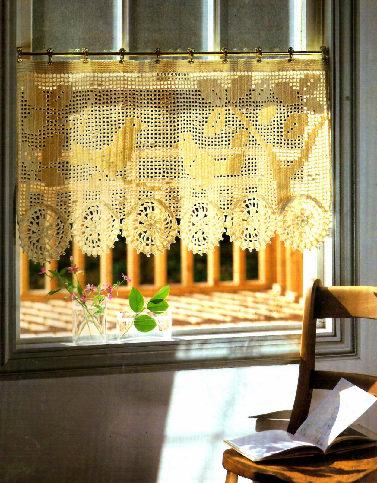 CORTINA PENUMBRAS TEJIDAS A CROCHET EXPLICACIÓN | Patrones Crochet ...