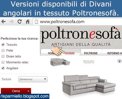 Risparmiello divani angolari in tessuto poltronesof - Poltronesofa divani angolari ...