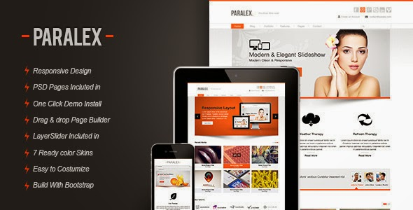 Paralex Multi Purpose Responsive WP Theme Version 2.0 free free
