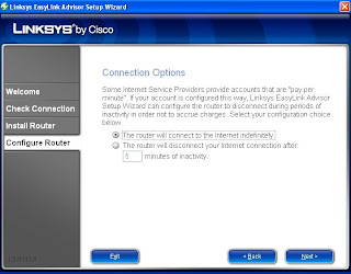 Connection Options Linksys