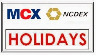 MCX Holiday Schedule 2015