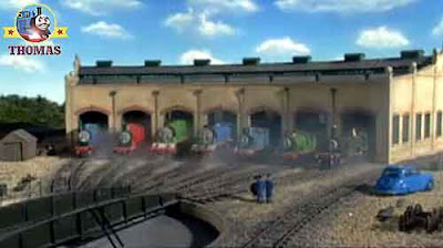Windy summer storm on the Island of Sodor the Fat Controllers car Tidmouth sheds Thomas 7 friends