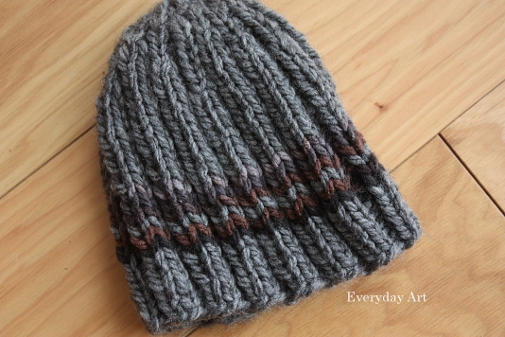 Free Slouchy Knit Hat Pattern : Everyday Art: Mens Knit Beanie