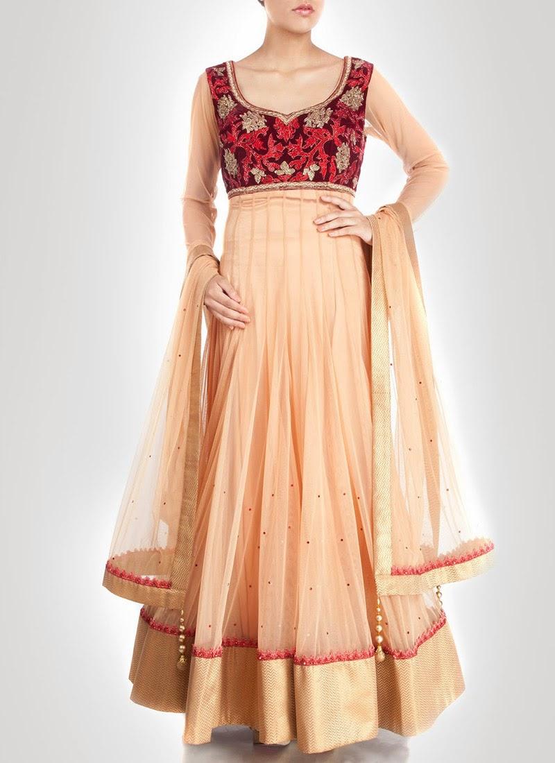 NewDesignsofLongAnarkaliSuitsCollection201428229 - New Designs of Long Anarkali Suits Collection 2014