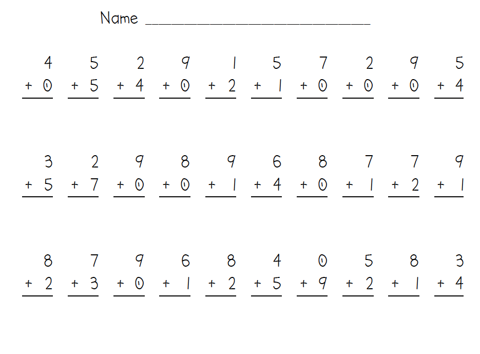 First Grade Addition Facts Scalien – Addition Practice Worksheet