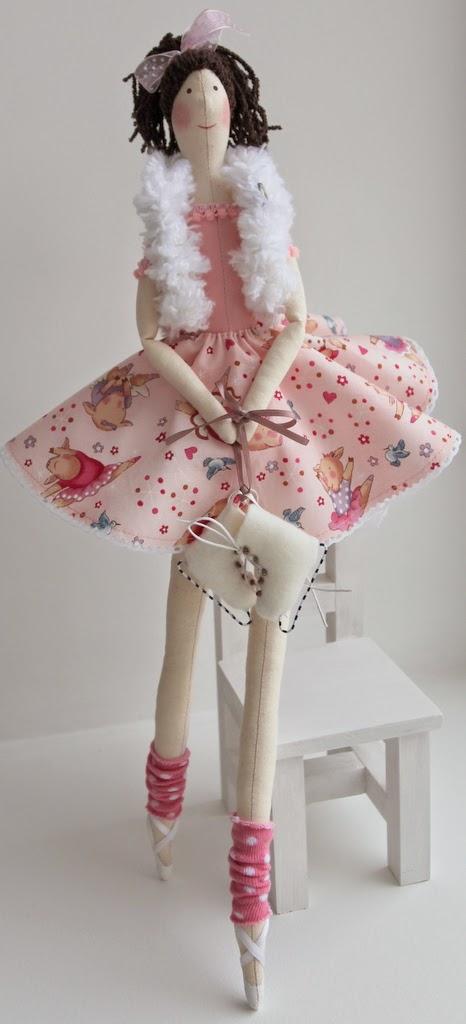 балерина интерьерная текстильная кукла ручная работа эксклюзив