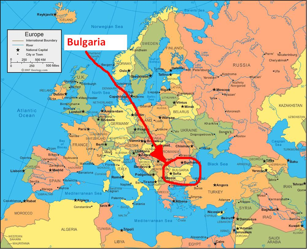 this map gives an overall picture and we can now see its proximity to the black sea and not far away to the south is greece we have already spoken of