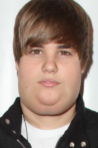 justin bieber fat face. justin bieber fat boy.