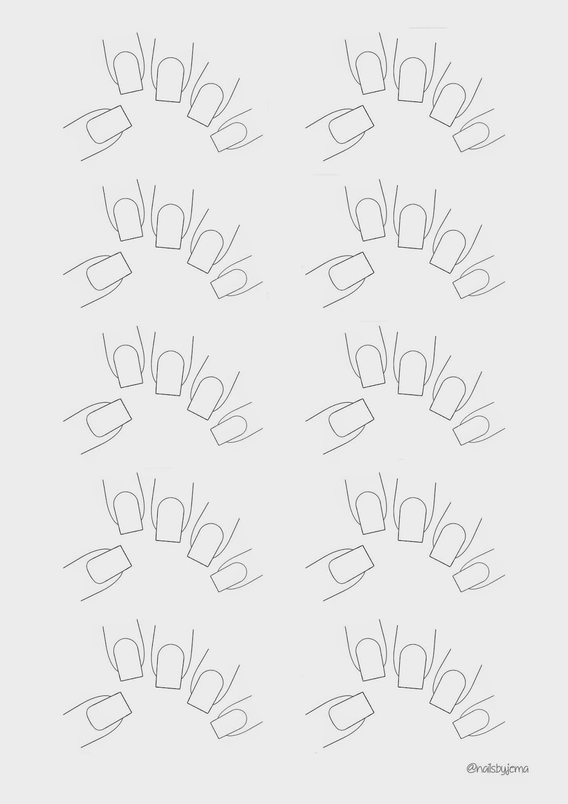 N A I L S B Y J E M A: Blank Nail Template For Your Nail Art