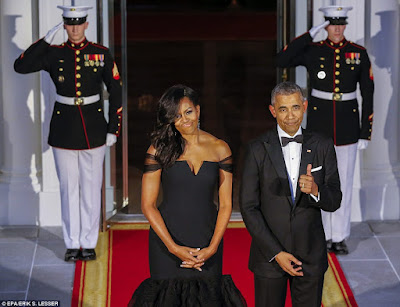 Michelle Obama stuns in designer Vera Wang gown as Obama's host Chinese leader,obama,