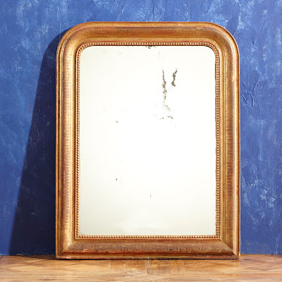 WISTERIA GILT CARVED WOOD MIRROR