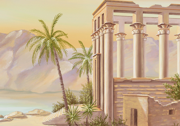 tableau temple de philae