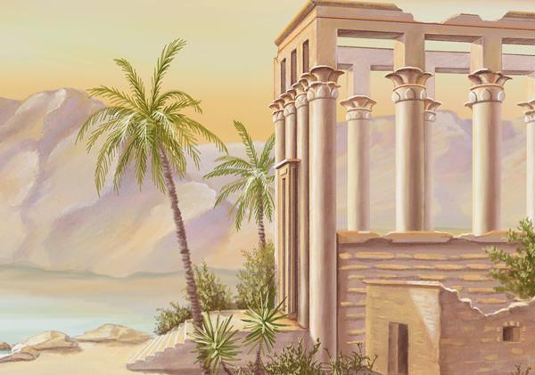 tableau temple de philae