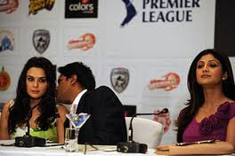 Preity listening to Lalit Modi talks