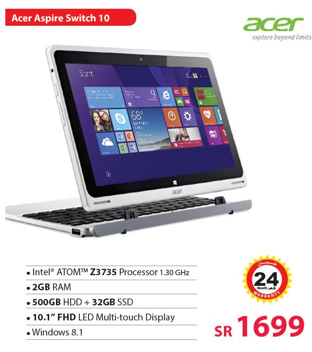 سعر جهاز Acer Aspire Switch 10 فى عروض مكتبة جرير
