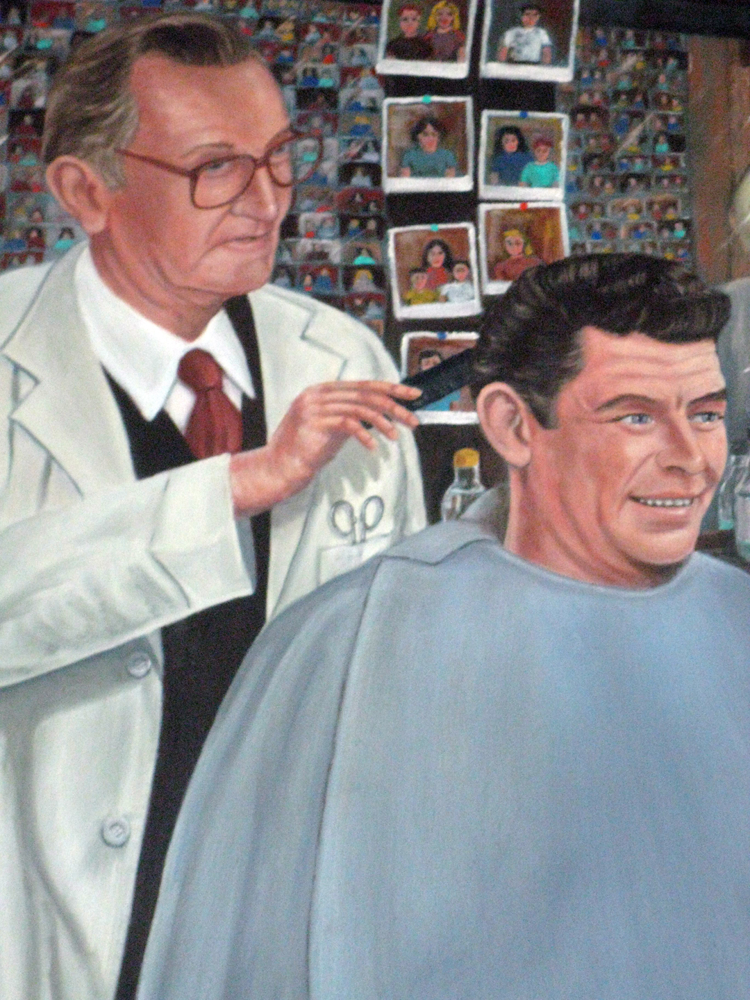 Barber Realty : ... slip: The real Floyds Barber Shop of Mount Airy, North Carolina