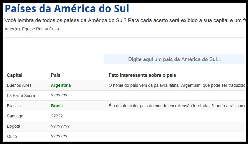 http://rachacuca.com.br/trivia/3/paises-da-america-do-sul/