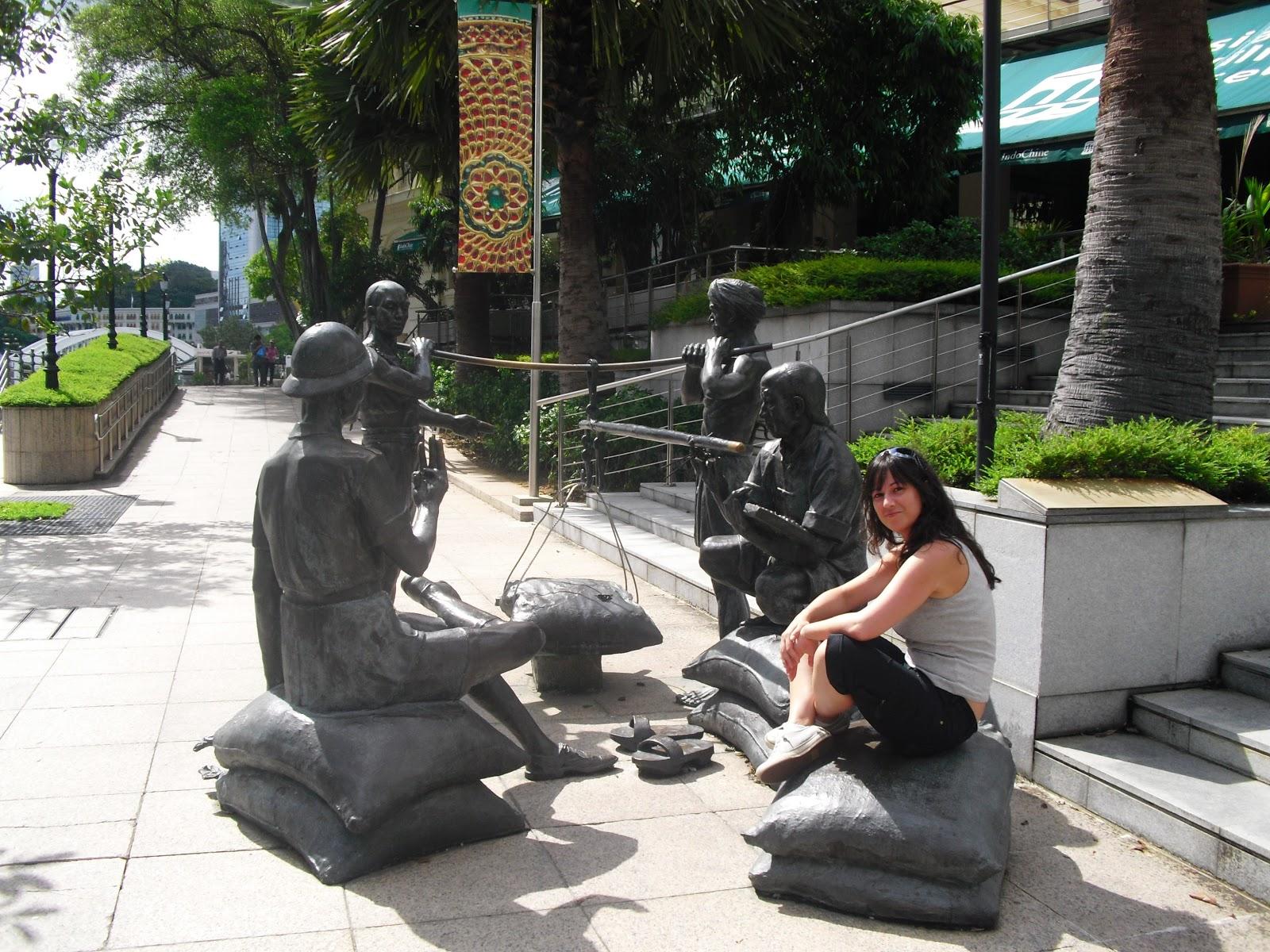 Clarke Quay en Singapur: estatuas