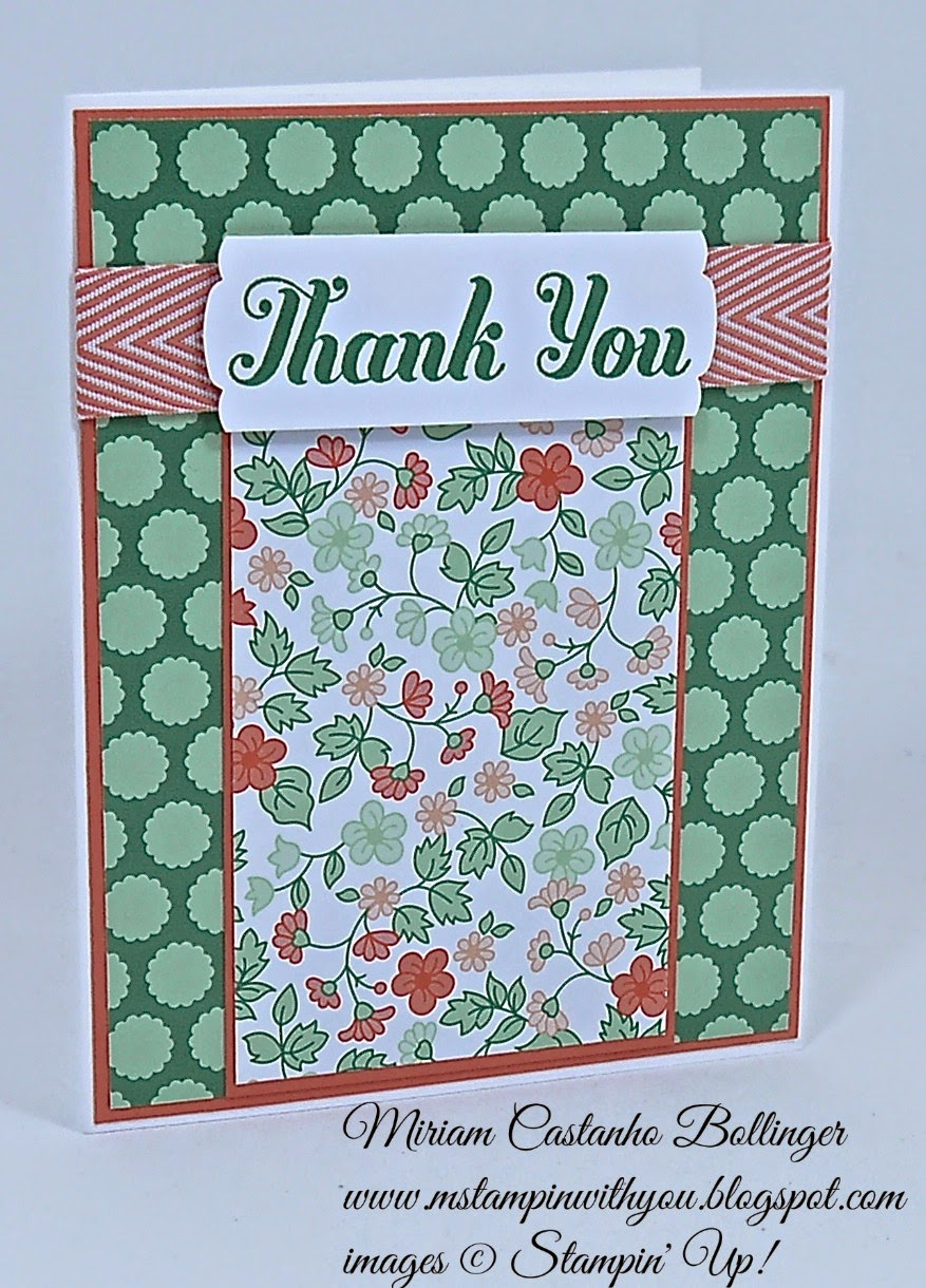 Miriam Castanho Bollinger, #mstampinwithyou, stampin up, demosntrator, dsc 126, gold soiree specialty dsp, lots of thanks, thank you, su
