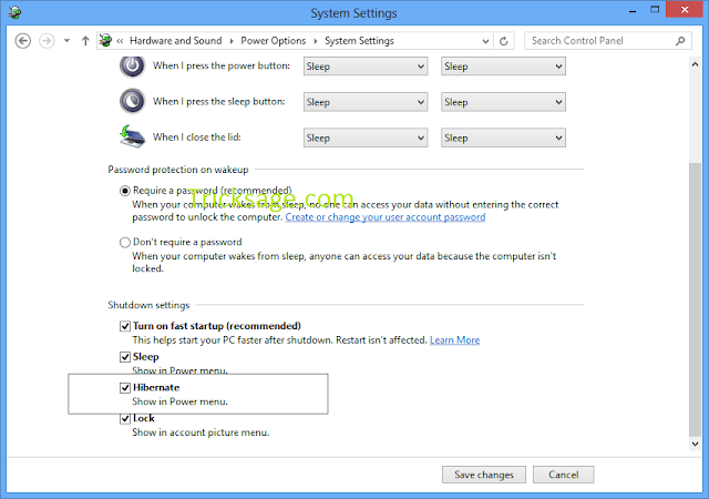 Windows 8 hibernate : How to make it possible?