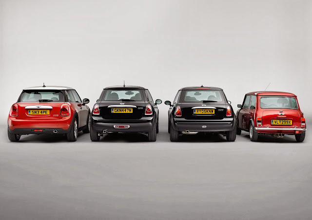 All generations of the Mini