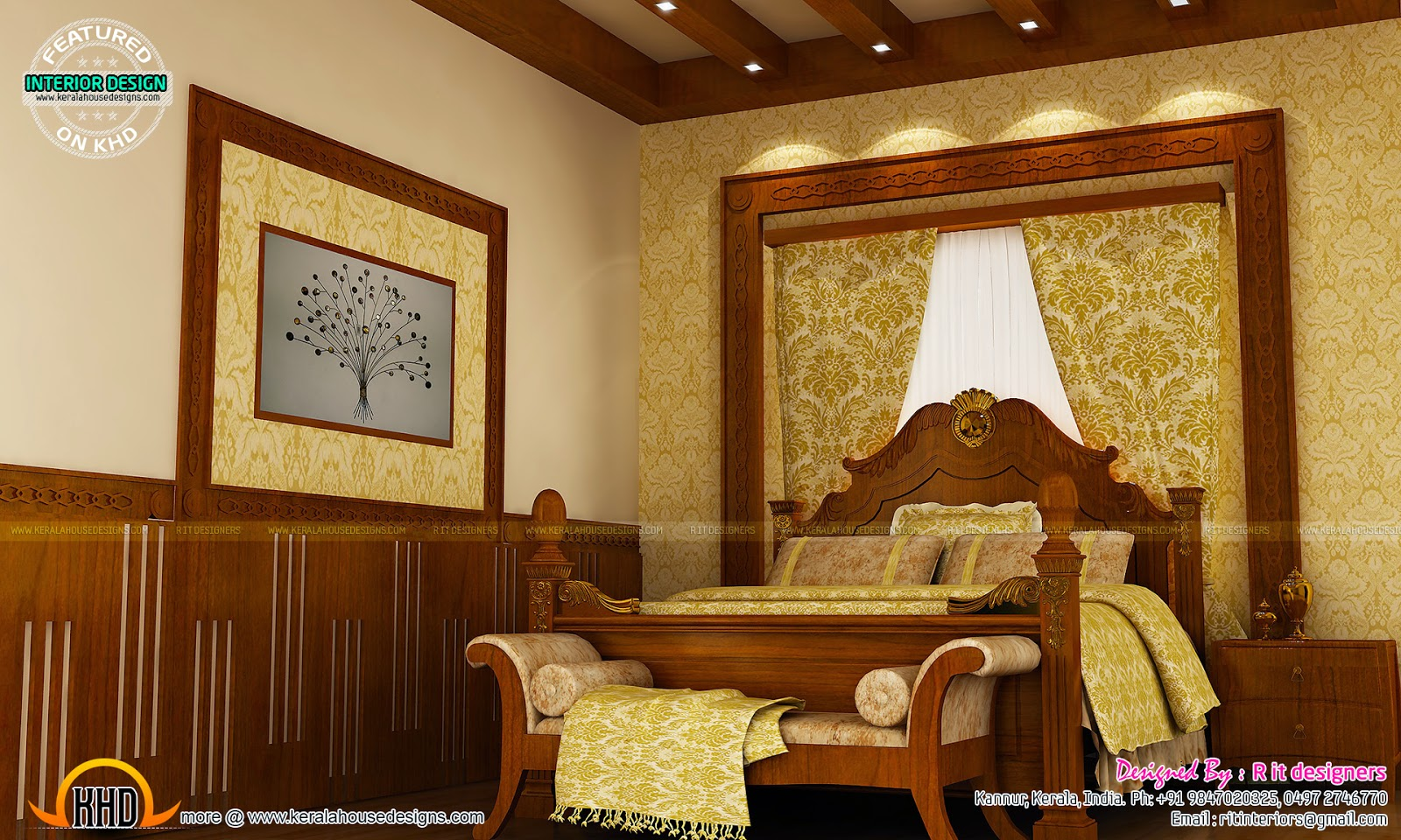 Master bedroom designs kerala home design and floor plans for Master bedroom designs kerala