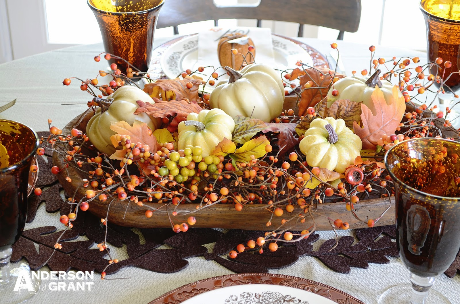 Fall Table Decor - Setting a table for fall
