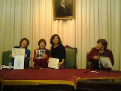 Después del recital a la paz en Miraflores.