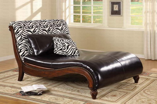 Furnishing your home with the best indoor chaise lounge for Animal print chaise lounge furniture