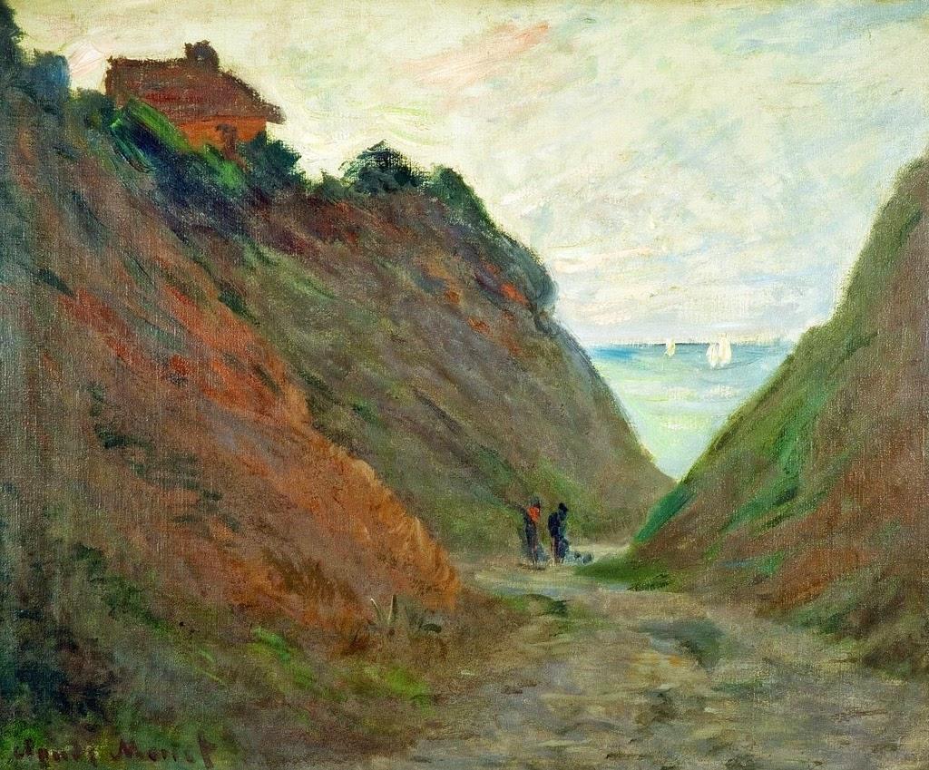 Chemin creux dans la falaise de Varengeville (1882)