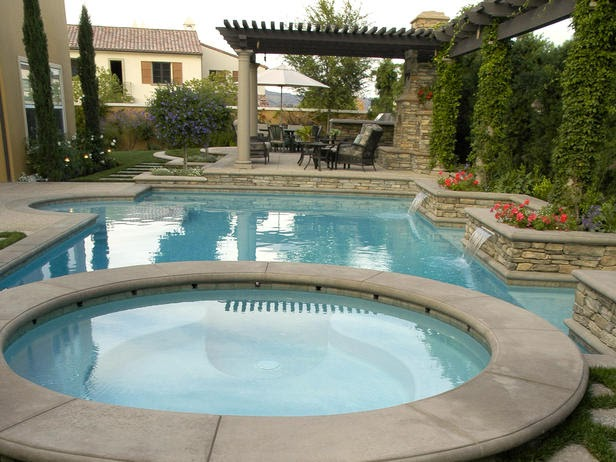 Our new casa pools with built in spas for Built in pools