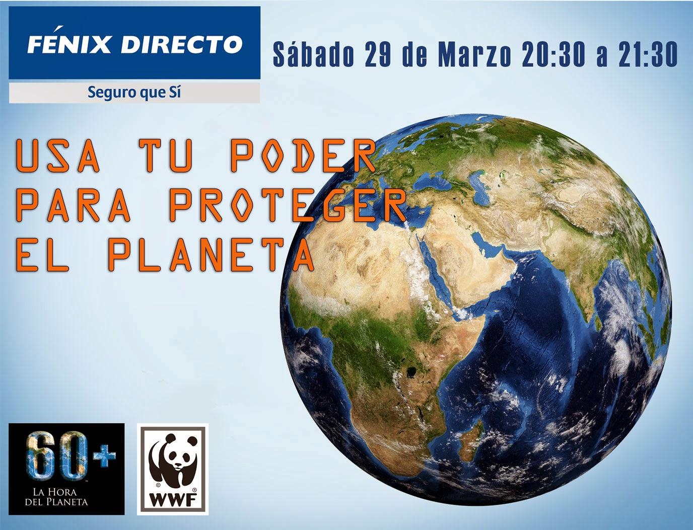 Fénix Directo empresa participante en La Hora del Planeta