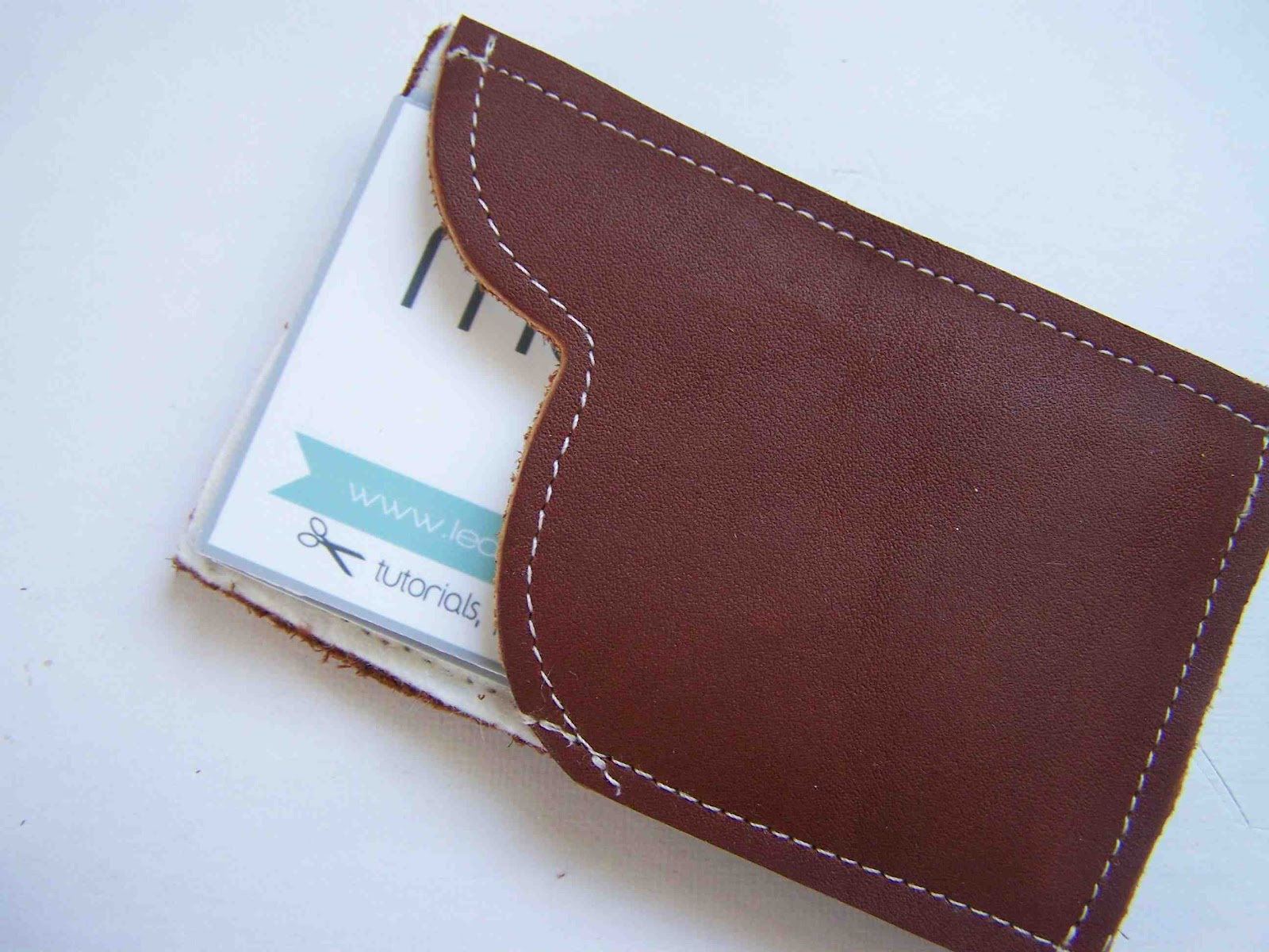 Made by Me d with you Leather Business Card Holder